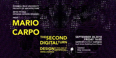 "Mario Carpo: ""The Second Digital Turn"""